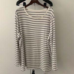 4/$24 Ava & Viv • Striped Long Sleeve, Soft 4x
